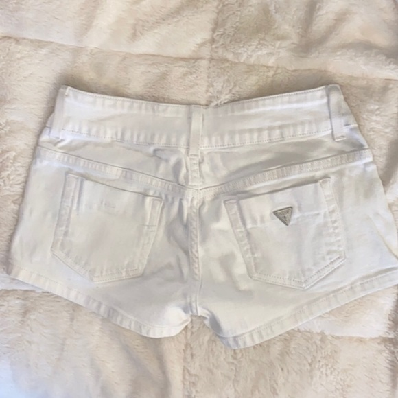 Guess shorts white jean stretchy booty short
